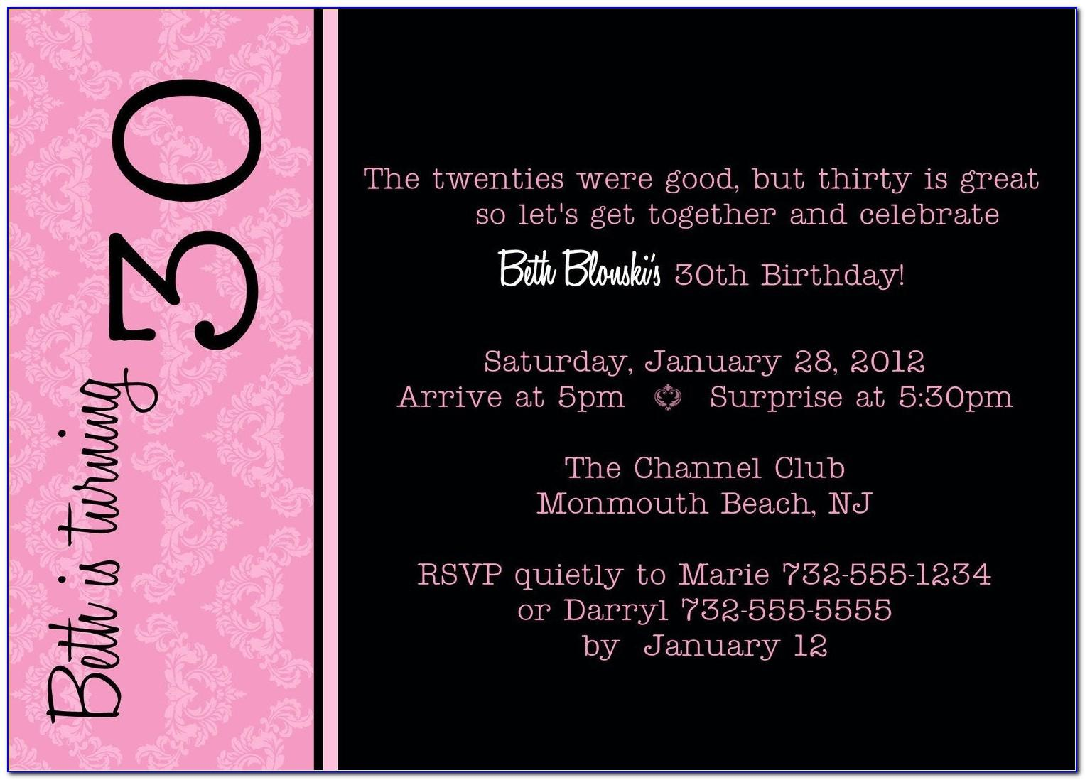Free Printable Birthday Invitation Templates For Word