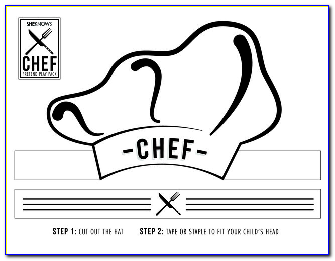 Free Printable Chef Hat Template