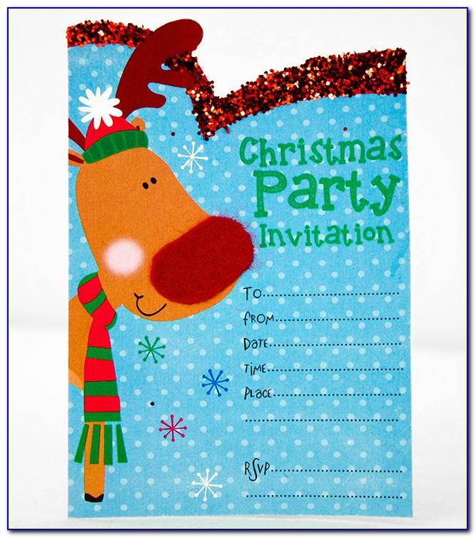 Free Printable Christmas Invitation Template