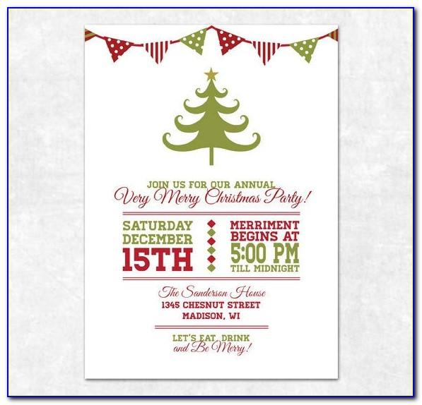 Free Printable Christmas Invite Templates