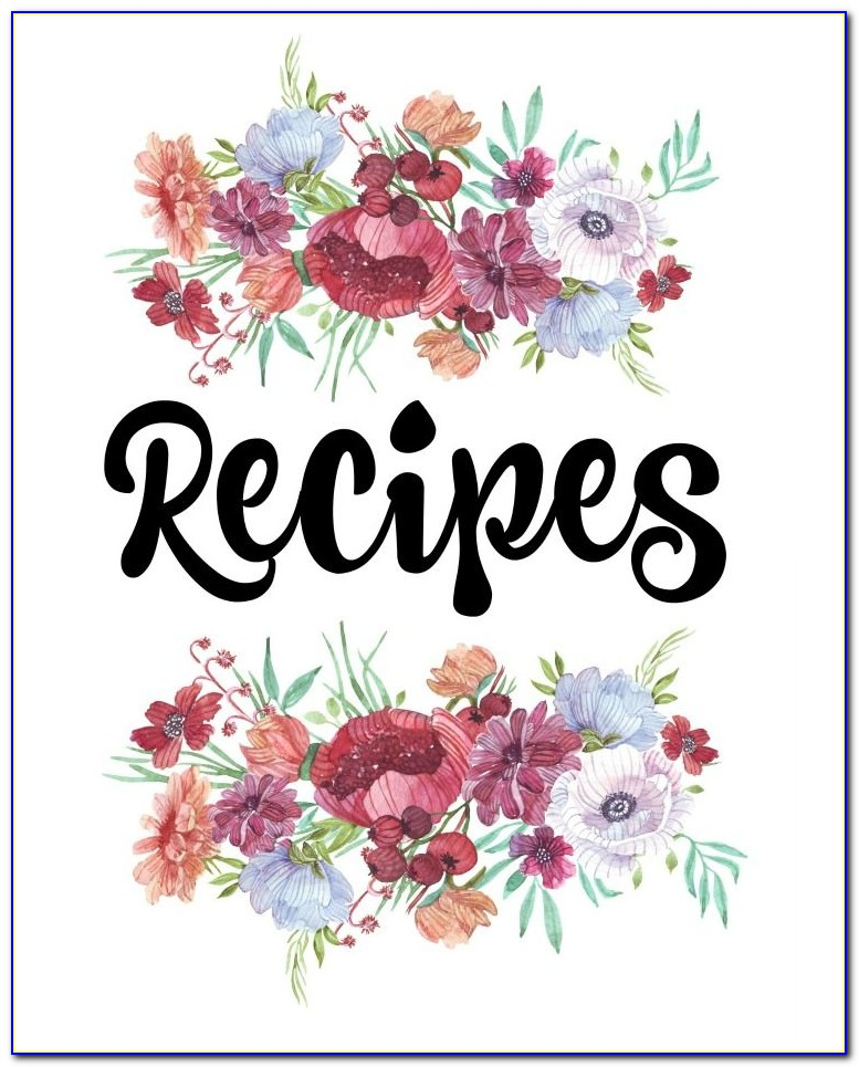 Free Printable Cookbook Cover Template