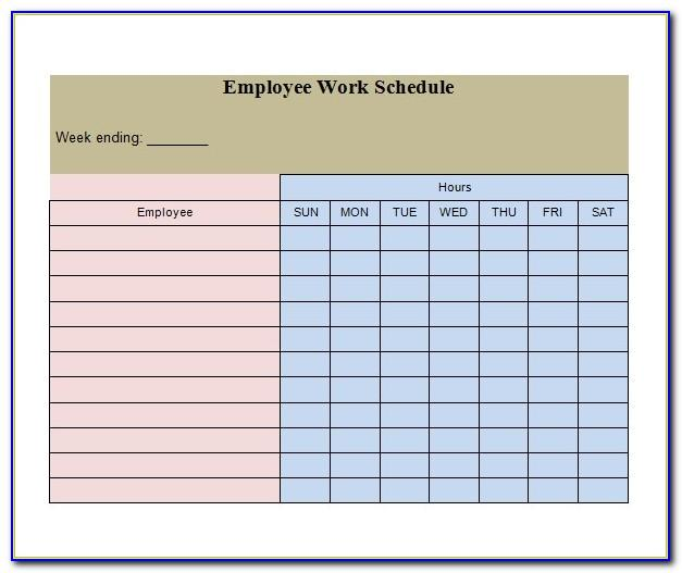Free Printable Monthly Employee Schedule Template