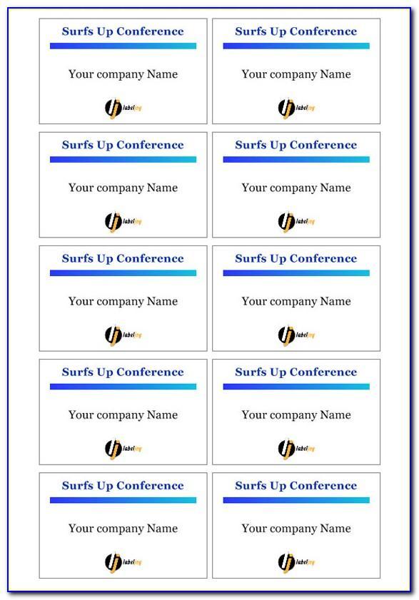 Free Printable Name Badge Template