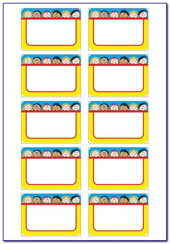 Free Printable Name Sticker Templates