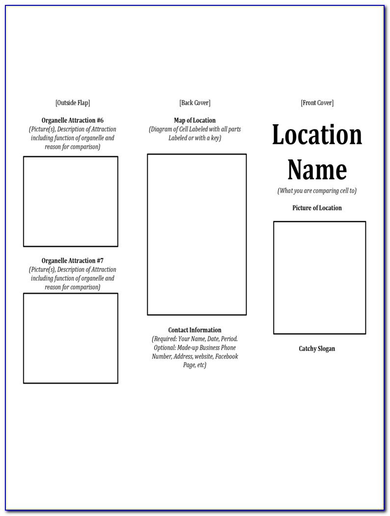 Free Printable Travel Brochure Template For Students