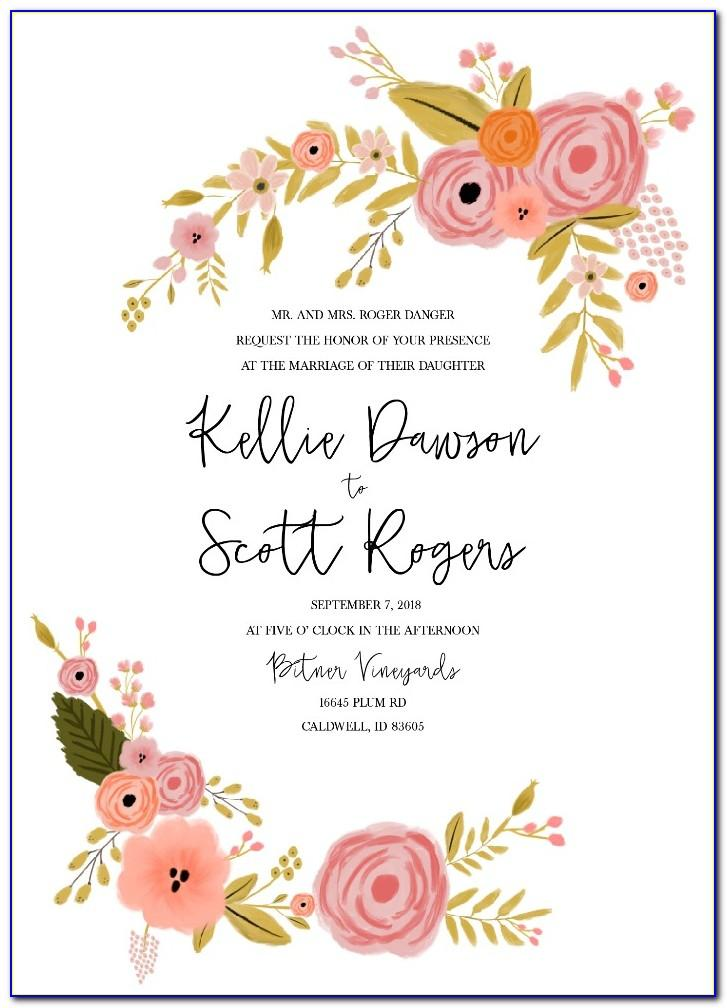 Free Printable Western Wedding Invitation Templates
