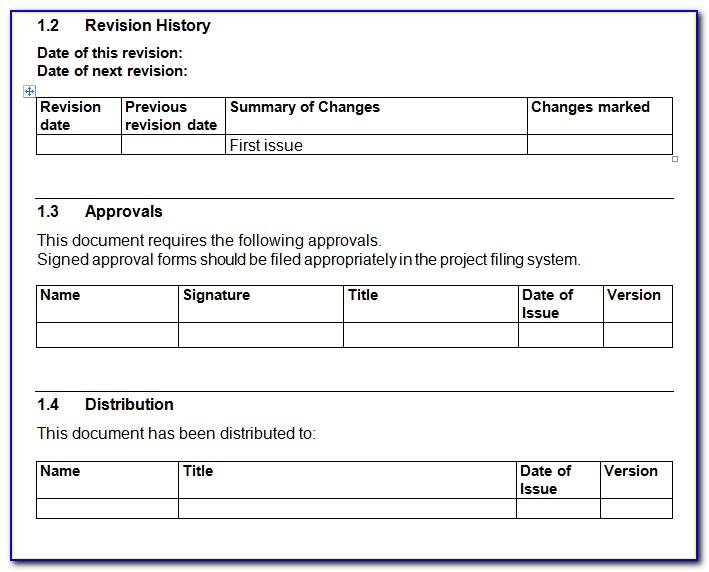 Free Project Execution Plan Template Excel