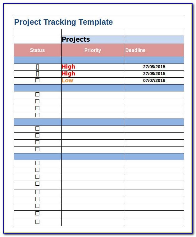 Free Project Management Templates Excel 2007