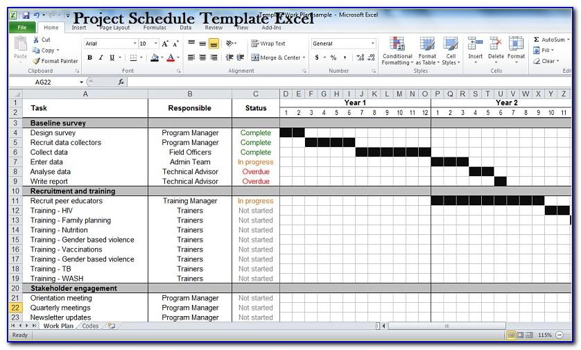 Free Project Plan Template For Excel