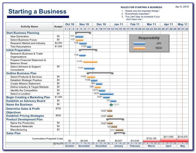 Free Project Timeline Template Excel 2010
