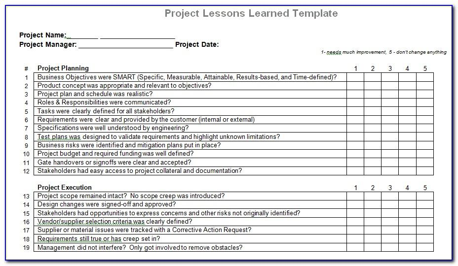 Free Project Tracking Template In Excel