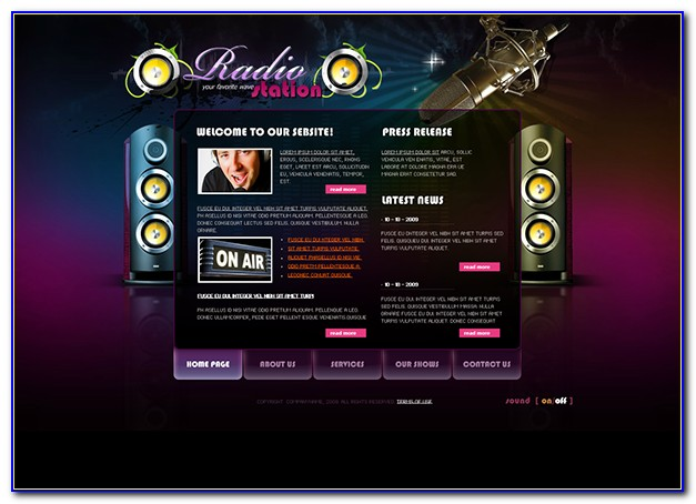 Free Radio Station Web Template