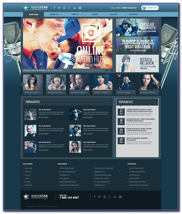 Free Radio Station Web Templates Html