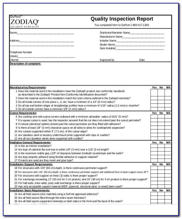 Free Rental Property Inspection Checklist Form