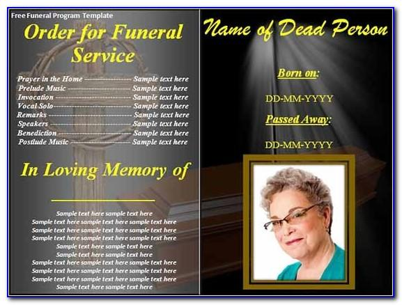 Funeral Program Template Free Online