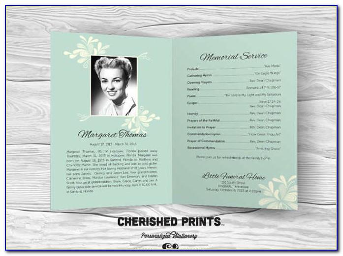 Funeral Programs Template Free