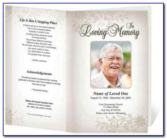 Funeral Service Program Template Pdf