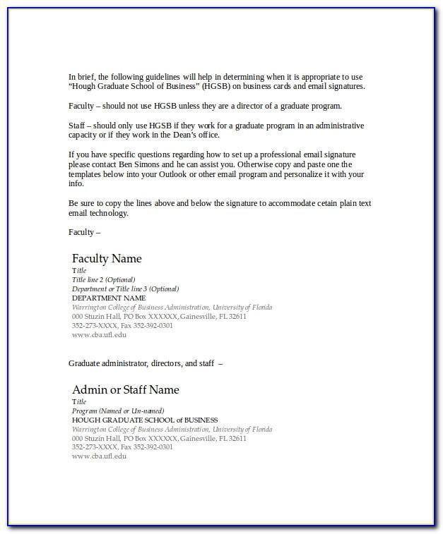 Good Email Signature Format