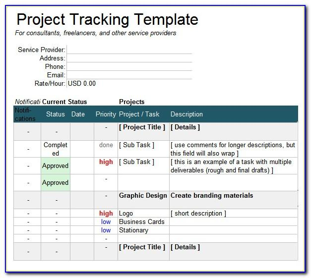 Google Sheet Project Tracking Template