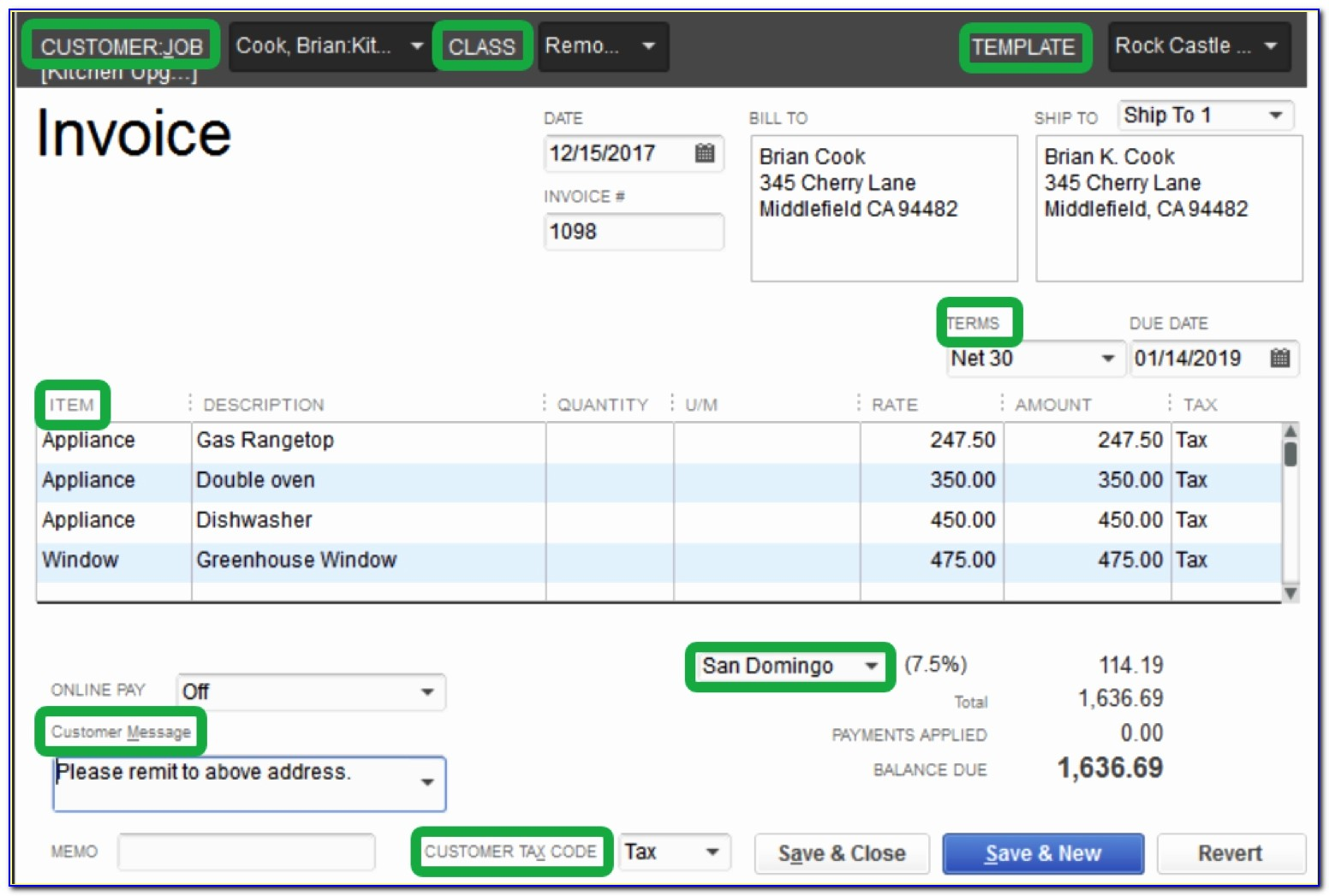 Import Invoice Template Into Quickbooks