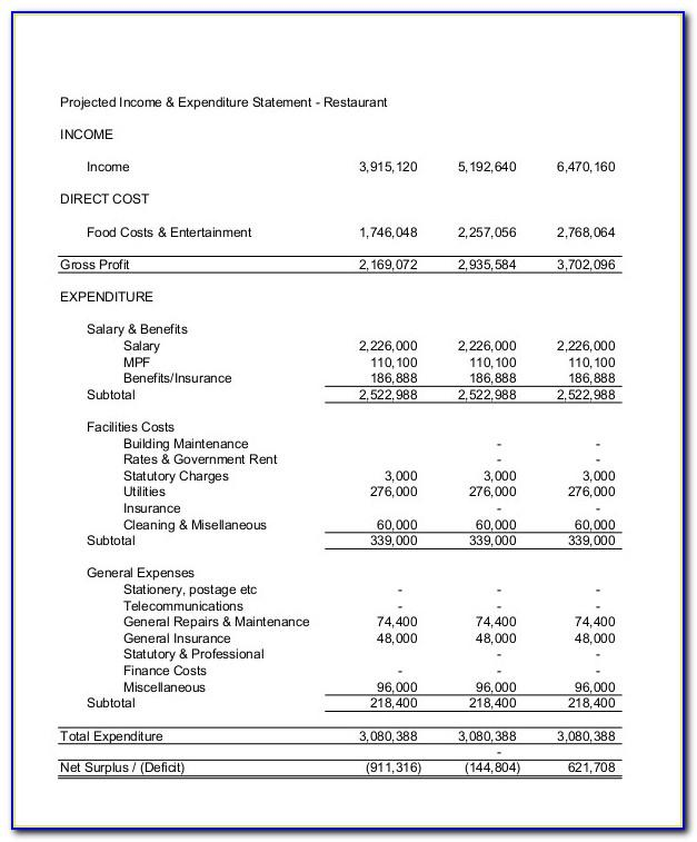 Income Statement Template Word Doc