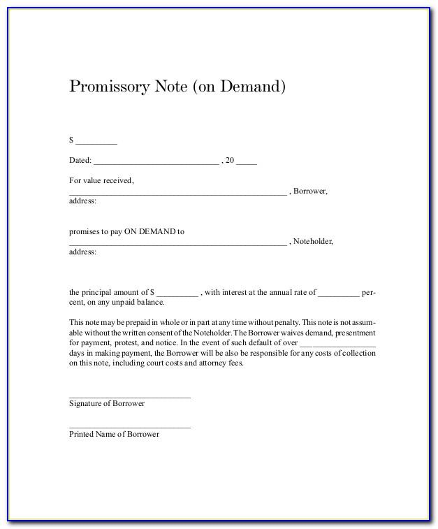 Indian Promissory Note Format Pdf