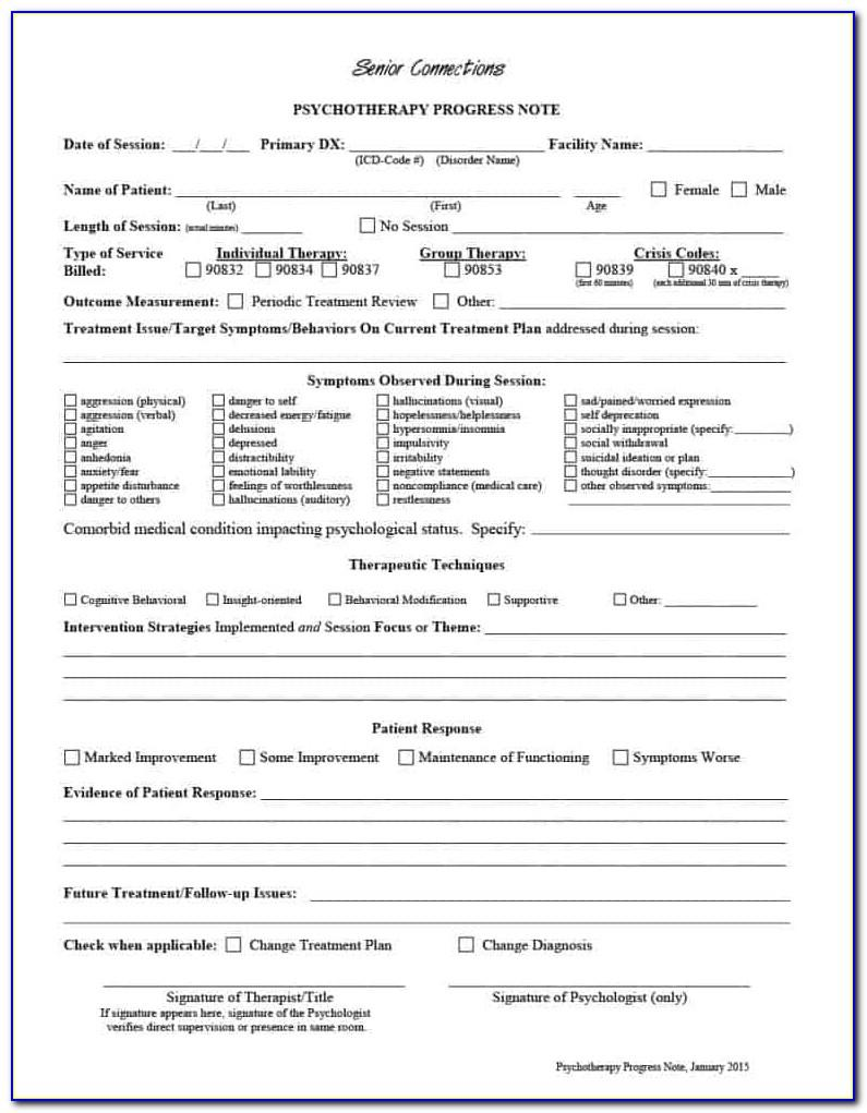 Inpatient Psychiatric Progress Note Sample