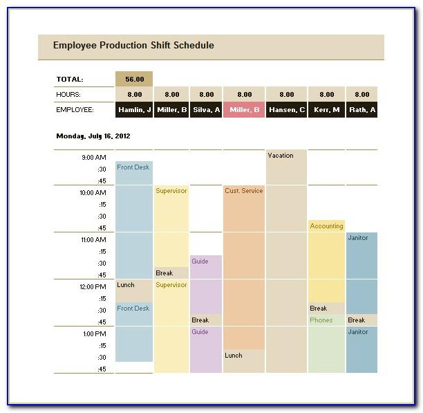Master Production Schedule Excel Template
