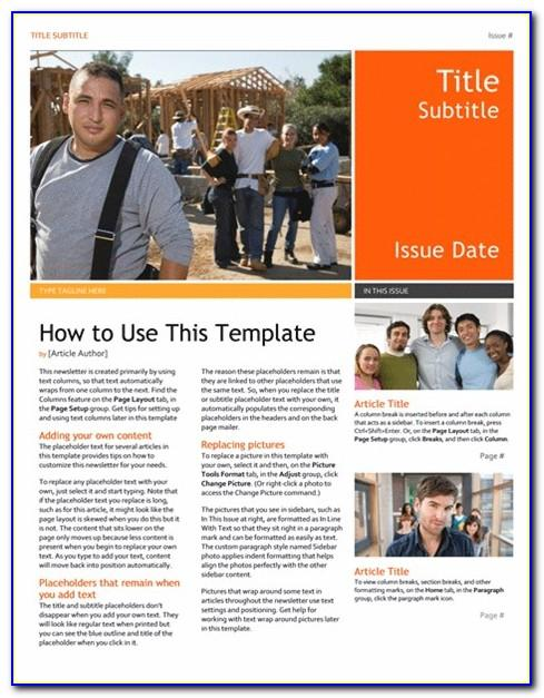 Microsoft Publisher Templates For Newsletter