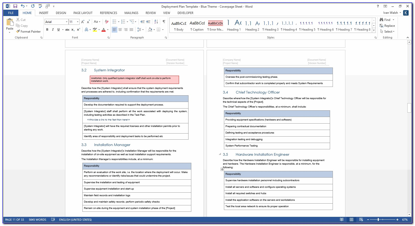 office 365 deployment project plan template