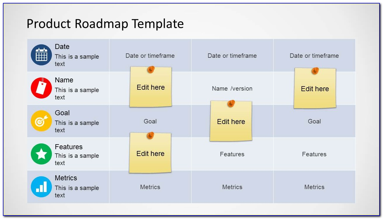 Powerpoint Product Roadmap Template Free