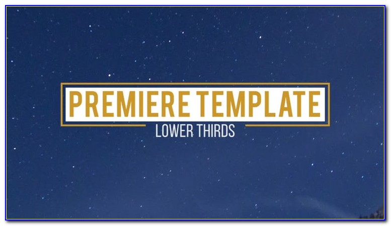 Premiere Lower Third Templates Free