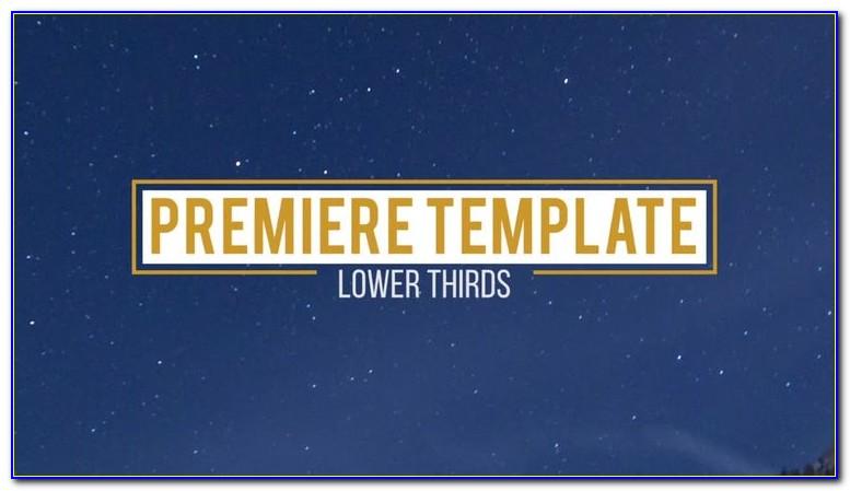 Premiere Pro Cc Lower Thirds Templates Free