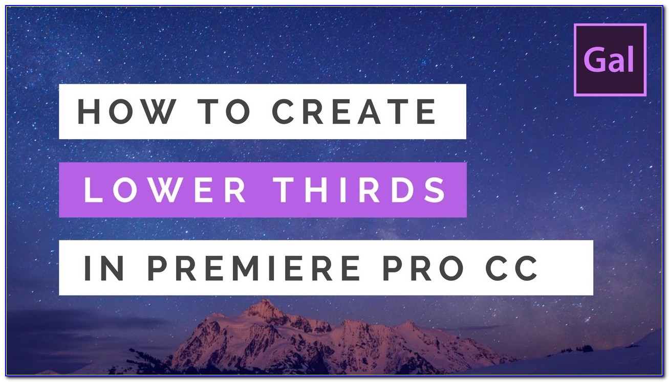 Premiere Pro Cs6 Lower Thirds Templates Free
