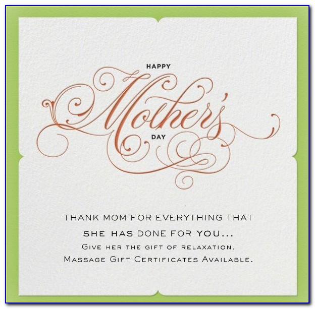 Prenatal Massage Gift Certificate Template