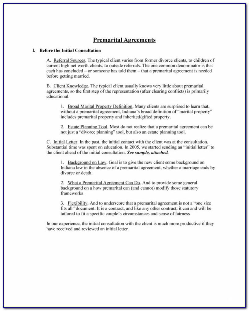 Prenuptial Agreement California Template