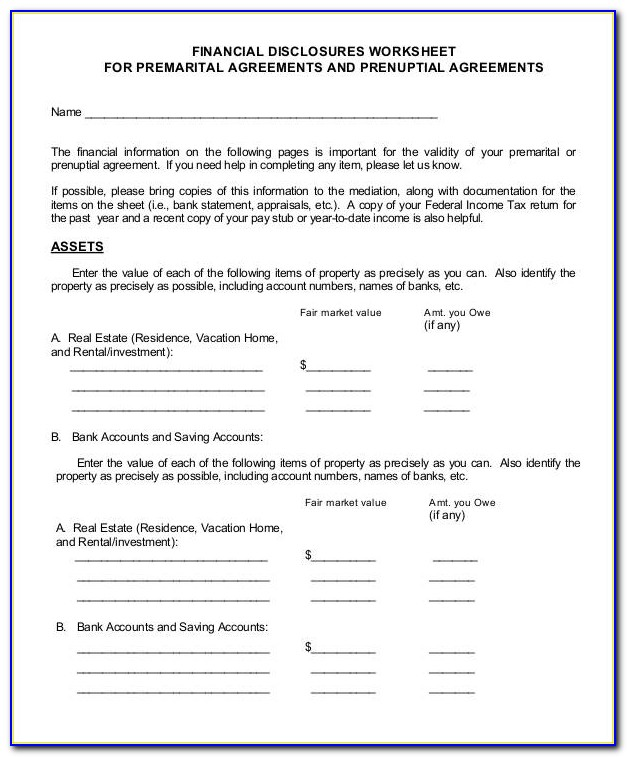 Prenuptial Agreement Template California