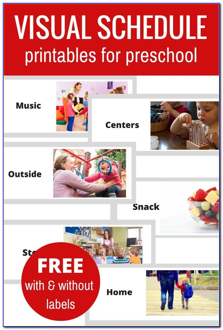 Preschool Daily Plan Template