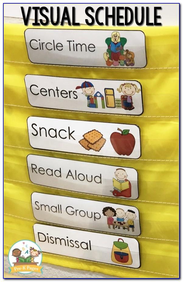 Preschool Daily Planner Template