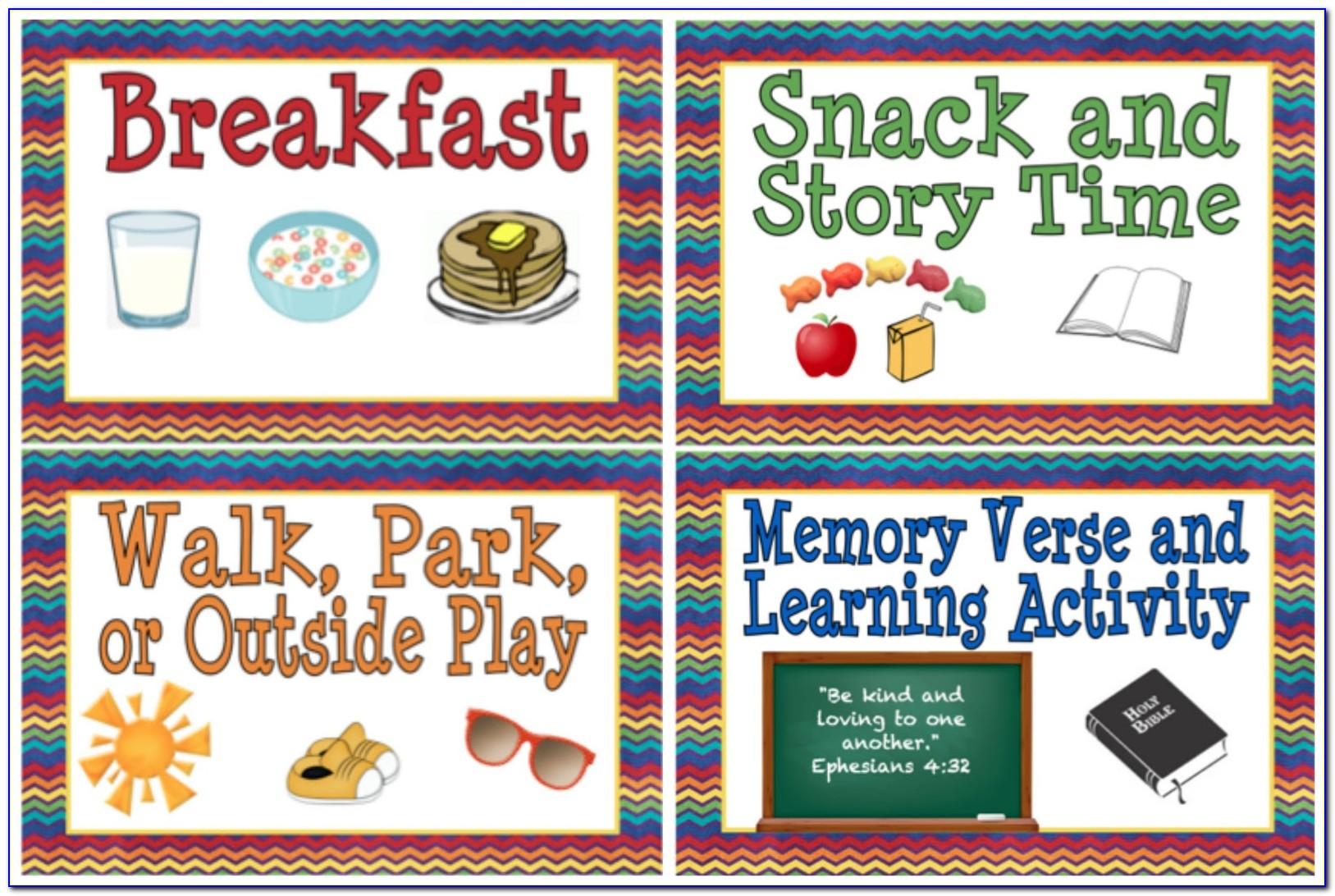 Preschool Memory Mate Templates