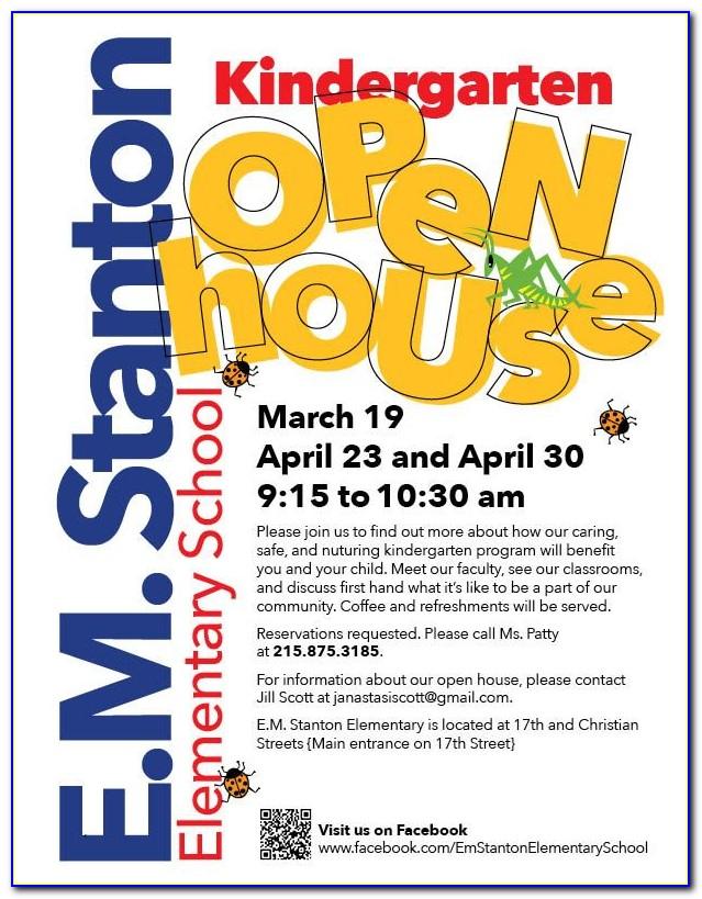 Preschool Open House Flyer Template Free