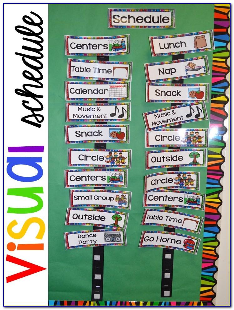 Preschool Visual Schedule Printables