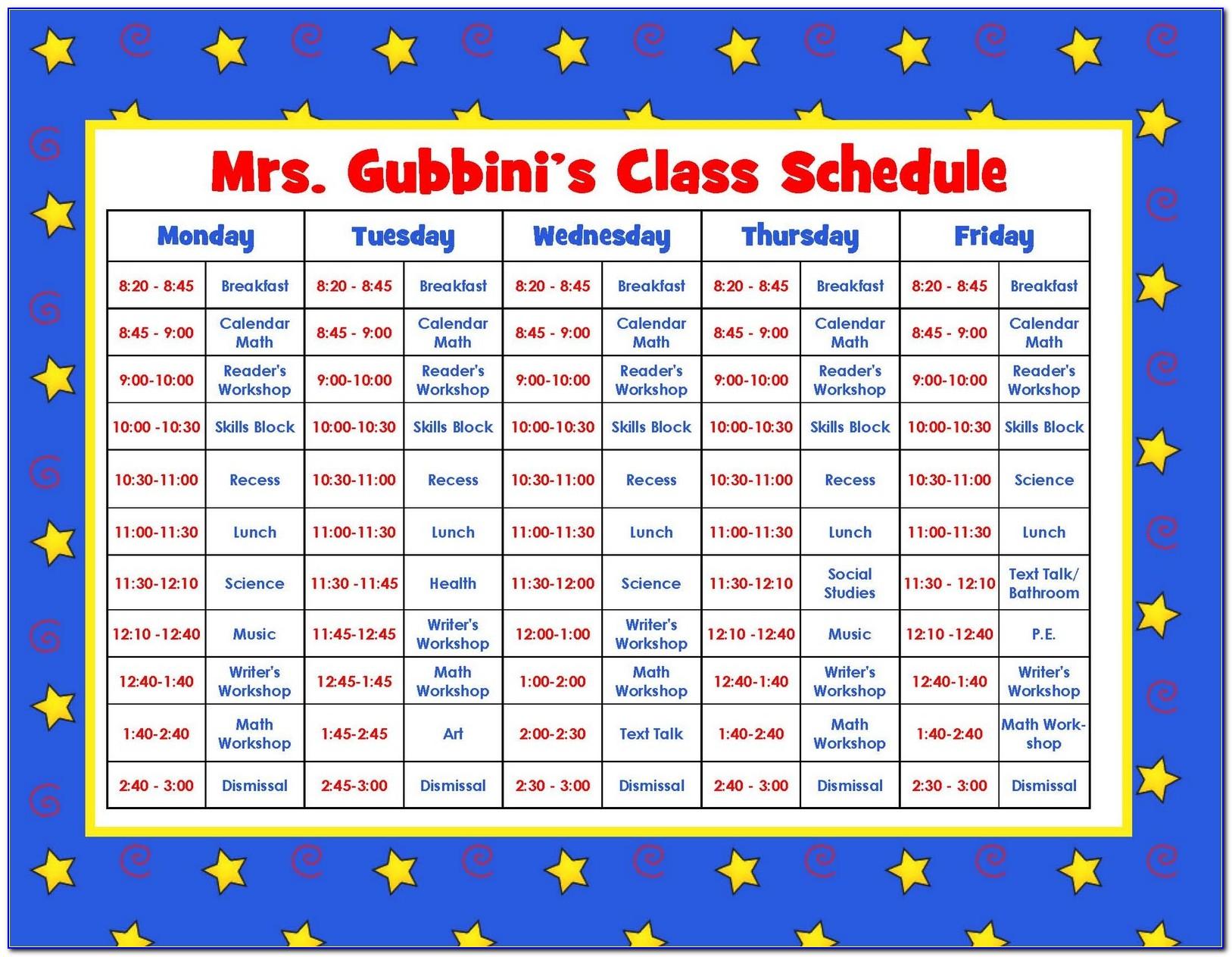 Preschool Weekly Lesson Plan Template Pdf