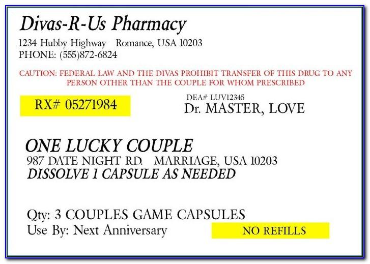 Prescription Bottle Label Template Pdf