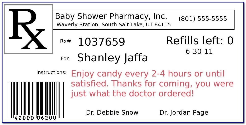 Prescription Bottle Label Template Word