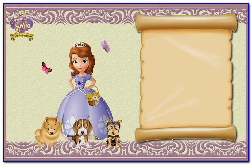 Princess Sofia Invitation Card Template