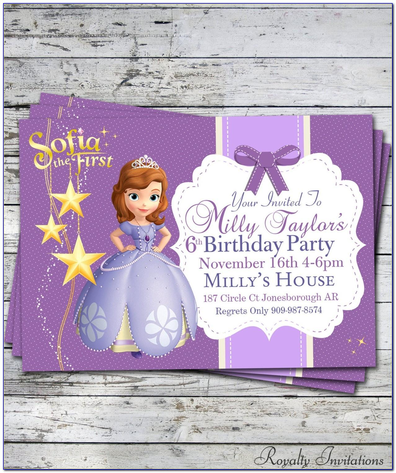 Princess Sofia Invitation Templates