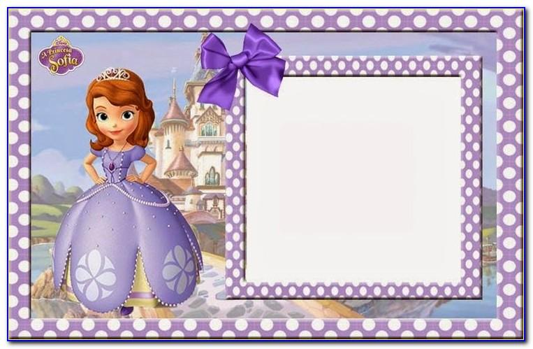 Princess Themed Birthday Invitation Templates