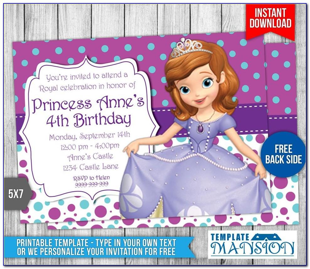 Princess Wedding Invitation Templates