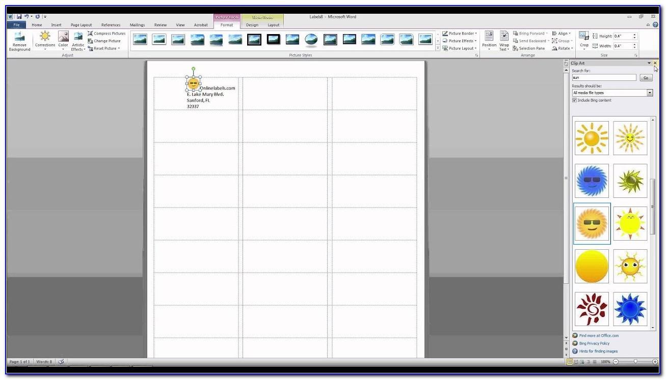 Print Barcode Labels Microsoft Word